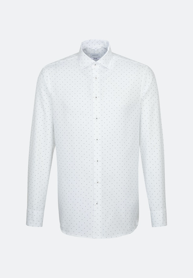 Easy-iron Struktur Business Shirt in Regular with Kent-Collar in White |  Seidensticker Onlineshop