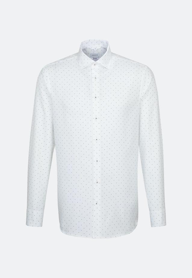 Bügelleichtes Struktur Business Hemd in Regular mit Kentkragen in Weiß    Seidensticker Onlineshop