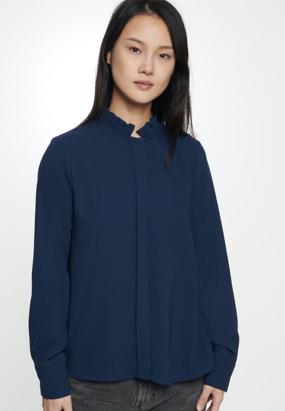 Poplin Stand-Up Blouse made of 100% Polyester in Dark blue |  Seidensticker Onlineshop