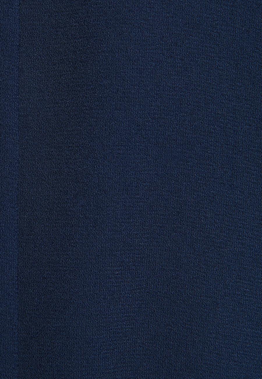 Popeline Midi Kleid aus 100% Polyester in Dunkelblau    Seidensticker Onlineshop