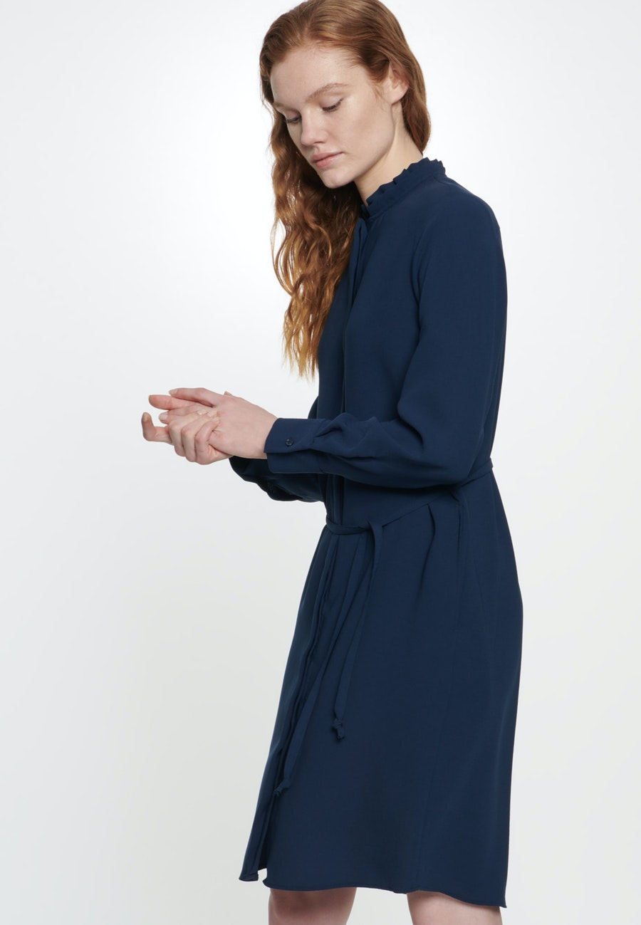 Poplin Midi Dress made of 100% Polyester in Dark blue |  Seidensticker Onlineshop