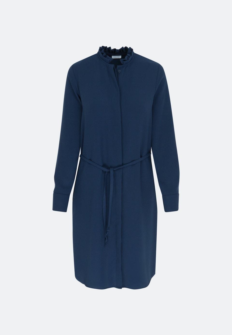 Popeline Midi Kleid aus 100% Polyester in Dunkelblau |  Seidensticker Onlineshop