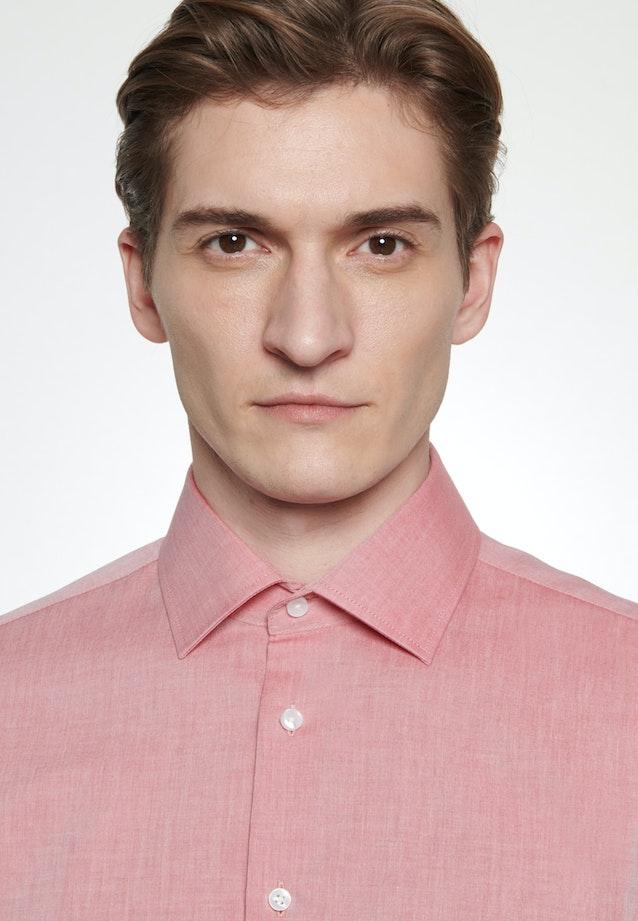 Bügelfreies Chambray Business Hemd in Shaped mit Kentkragen in Rot    Seidensticker Onlineshop
