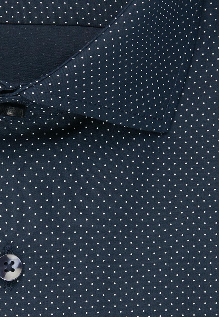 Popeline Business Hemd in Regular mit Kentkragen in Dunkelblau |  Seidensticker Onlineshop