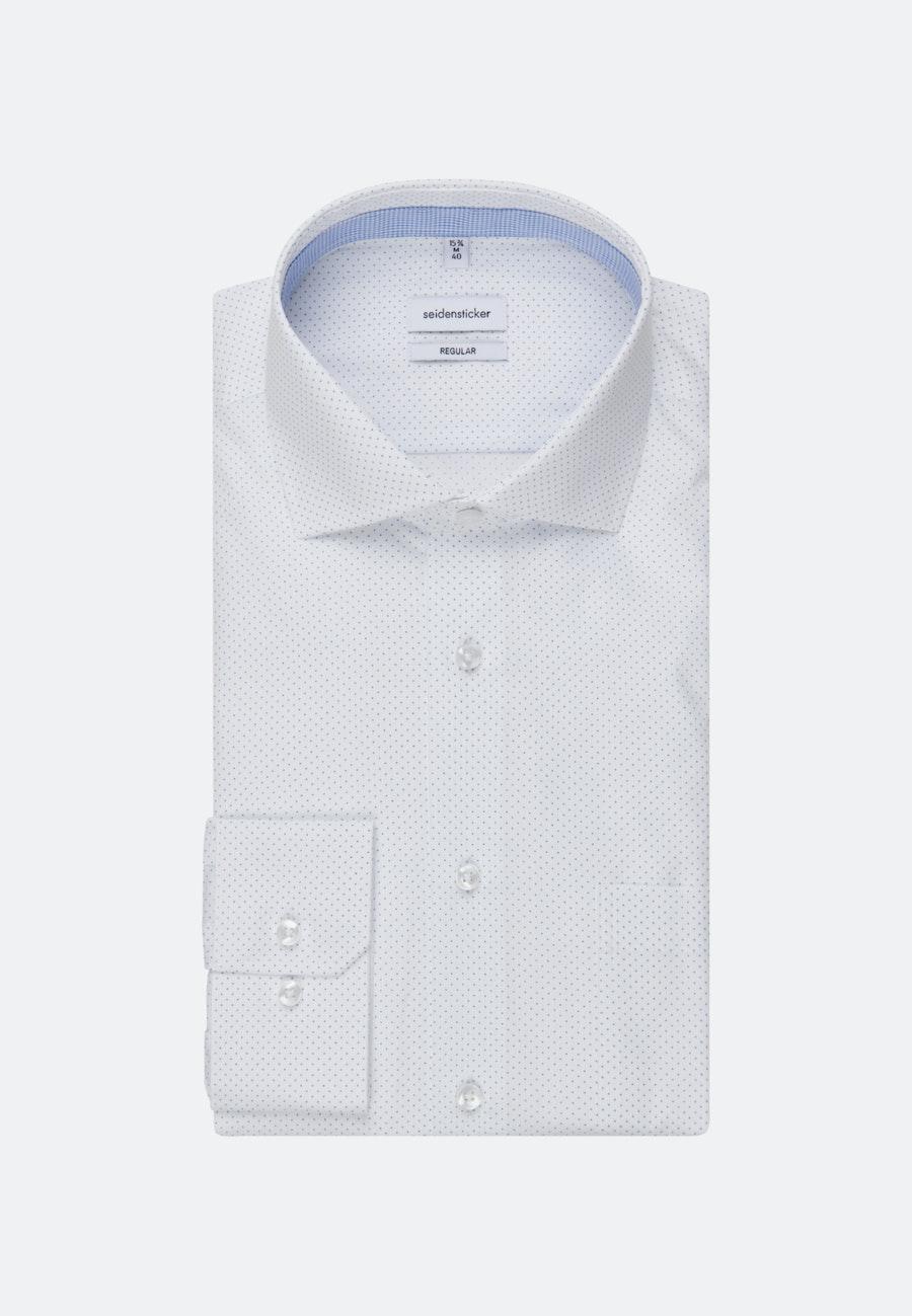 Popeline Business Hemd in Regular mit Kentkragen in Weiß |  Seidensticker Onlineshop