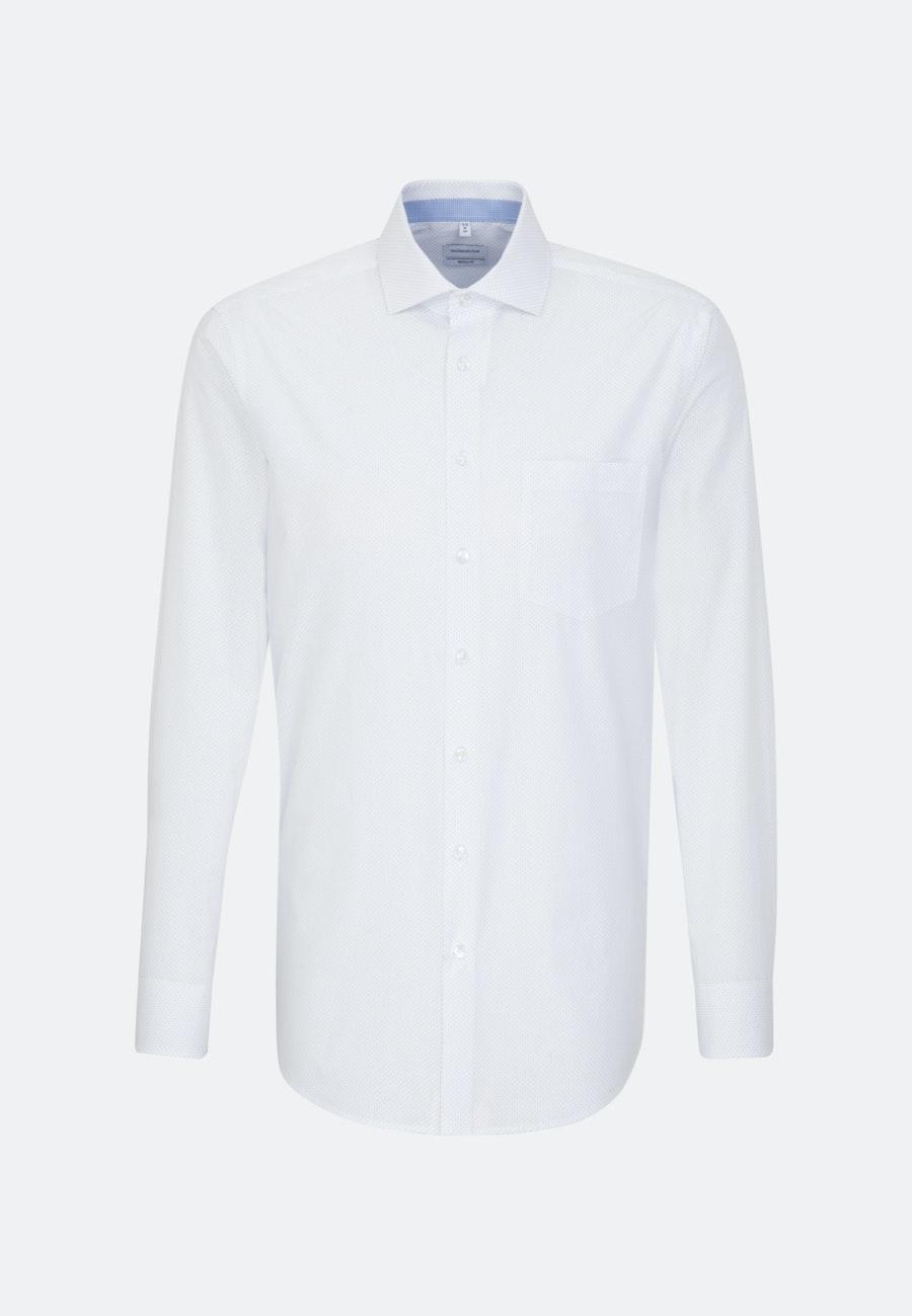 Easy-iron Popeline Business Shirt in Regular with Kent-Collar in White    Seidensticker Onlineshop