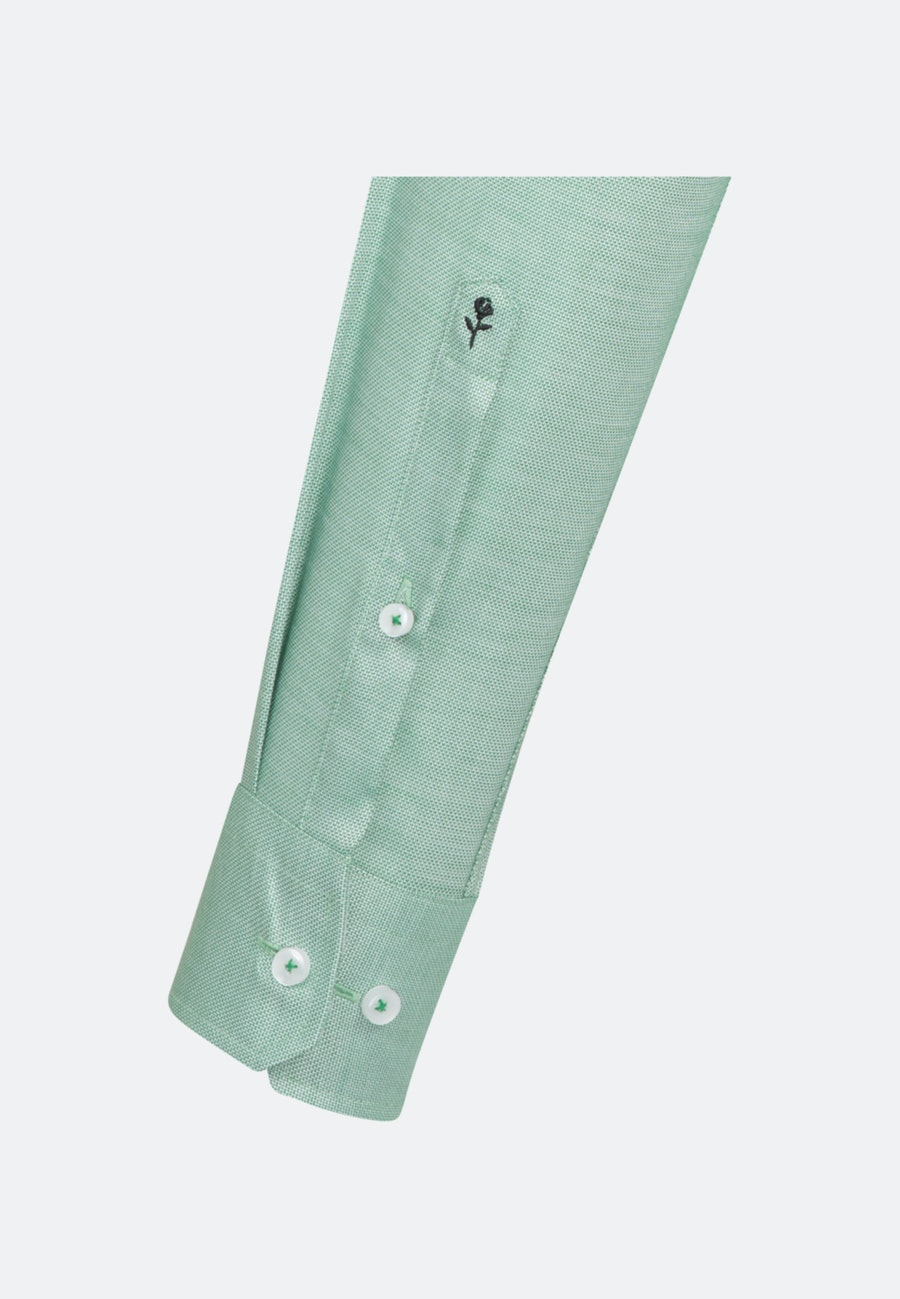 Bügelfreies Struktur Business Hemd in Regular mit Kentkragen in Grün |  Seidensticker Onlineshop