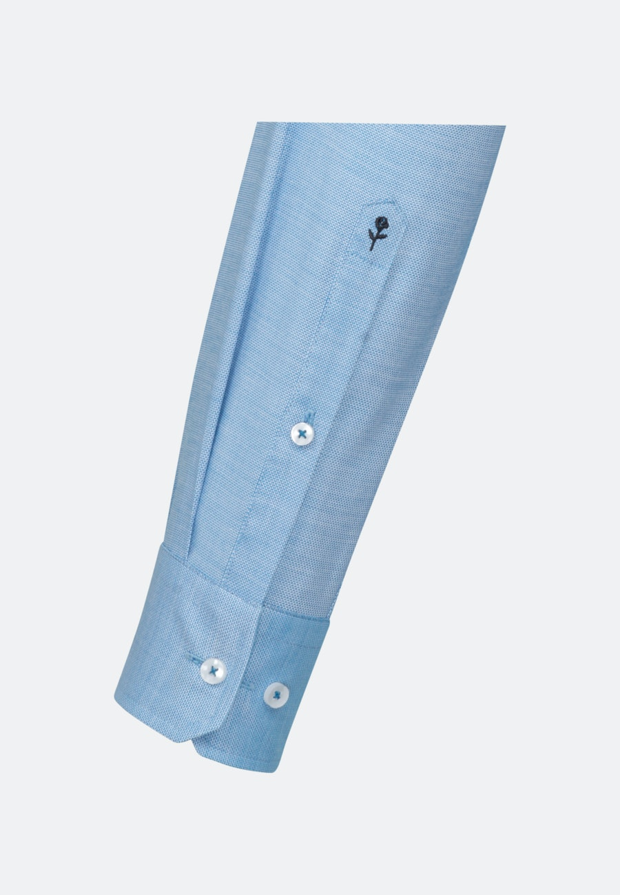Non-iron Structure Business Shirt in Regular with Kent-Collar in Turquoise |  Seidensticker Onlineshop