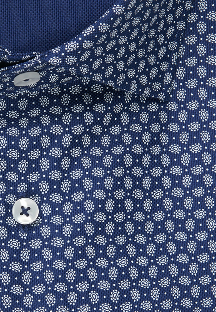 Easy-iron Structure Business Shirt in Shaped with Kent-Collar in Medium blue    Seidensticker Onlineshop