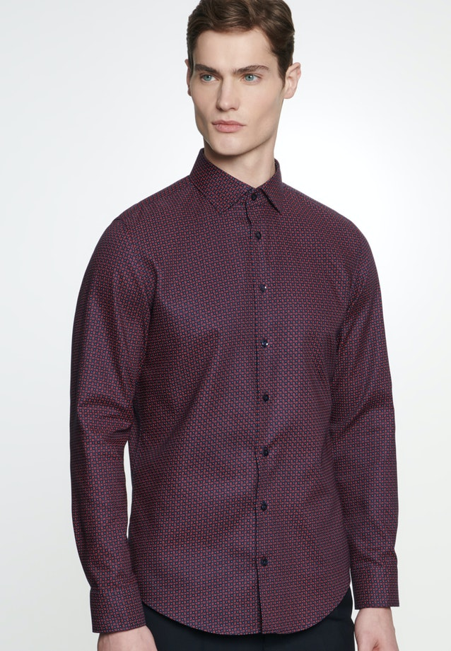 Easy-iron Struktur Business Shirt in Shaped with Kent-Collar in Red |  Seidensticker Onlineshop