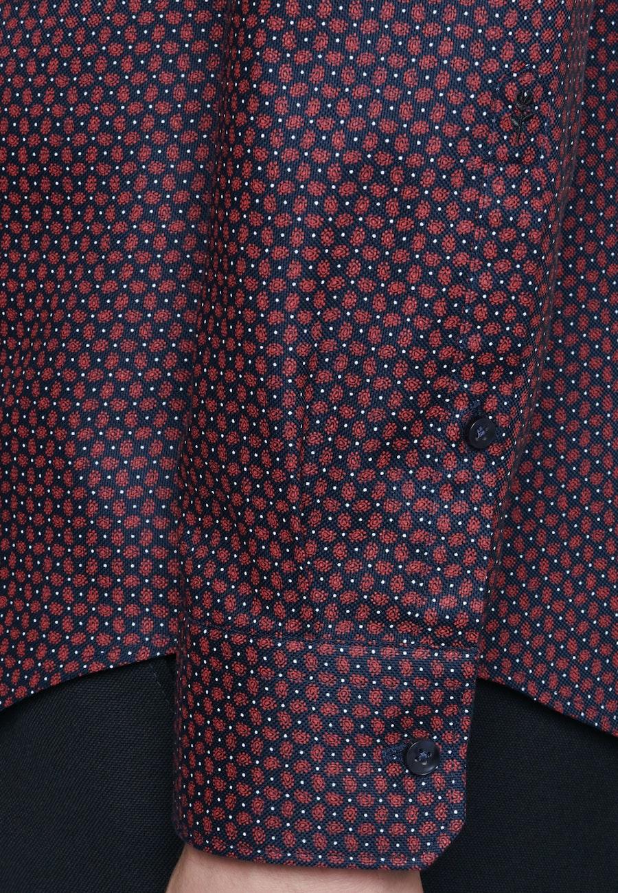 Bügelleichtes Struktur Business Hemd in Shaped mit Kentkragen in Rot    Seidensticker Onlineshop