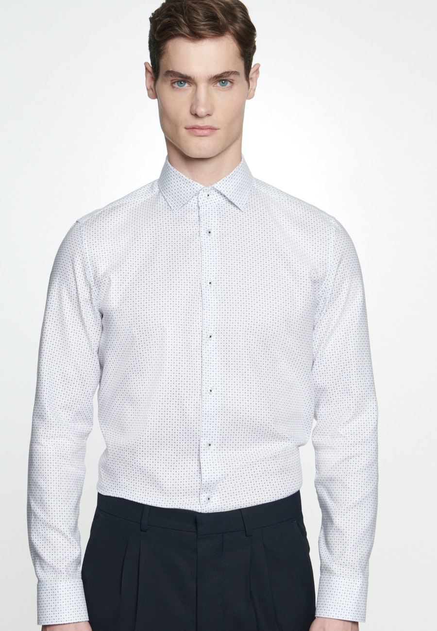 Easy-iron Struktur Business Shirt in Slim with Kent-Collar in Medium blue |  Seidensticker Onlineshop