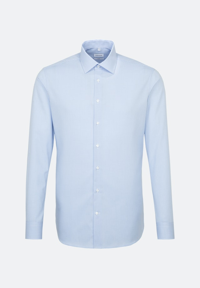 Non-iron Popeline Business Shirt in X-Slim with Kent-Collar in Light blue |  Seidensticker Onlineshop