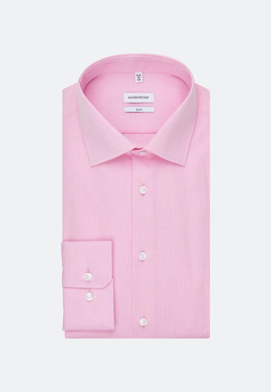 Bügelfreies Chambray Business Hemd in Slim mit Kentkragen in Rosa/Pink |  Seidensticker Onlineshop