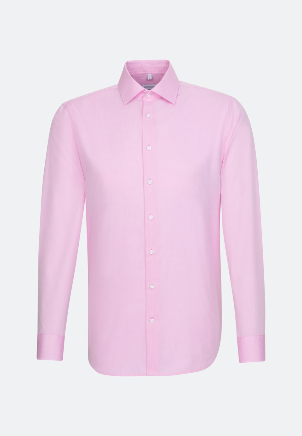 Non-iron Chambray Business Shirt in Slim with Kent-Collar in Pink    Seidensticker Onlineshop