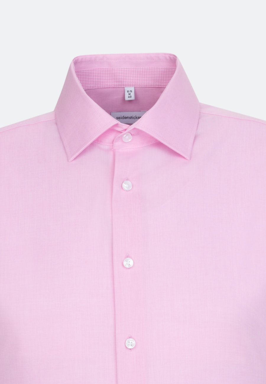 Non-iron Chambray Business Shirt in Slim with Kent-Collar in Pink |  Seidensticker Onlineshop