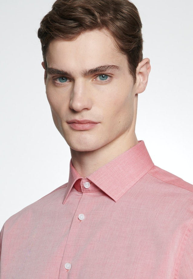 Non-iron Chambray Business Shirt in Slim with Kent-Collar in Red |  Seidensticker Onlineshop
