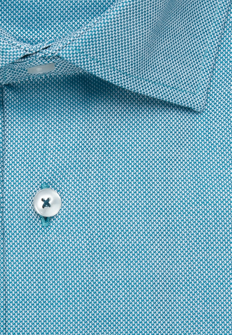Non-iron Struktur Business Shirt in Regular with Kent-Collar in Türkis/Petrol |  Seidensticker Onlineshop