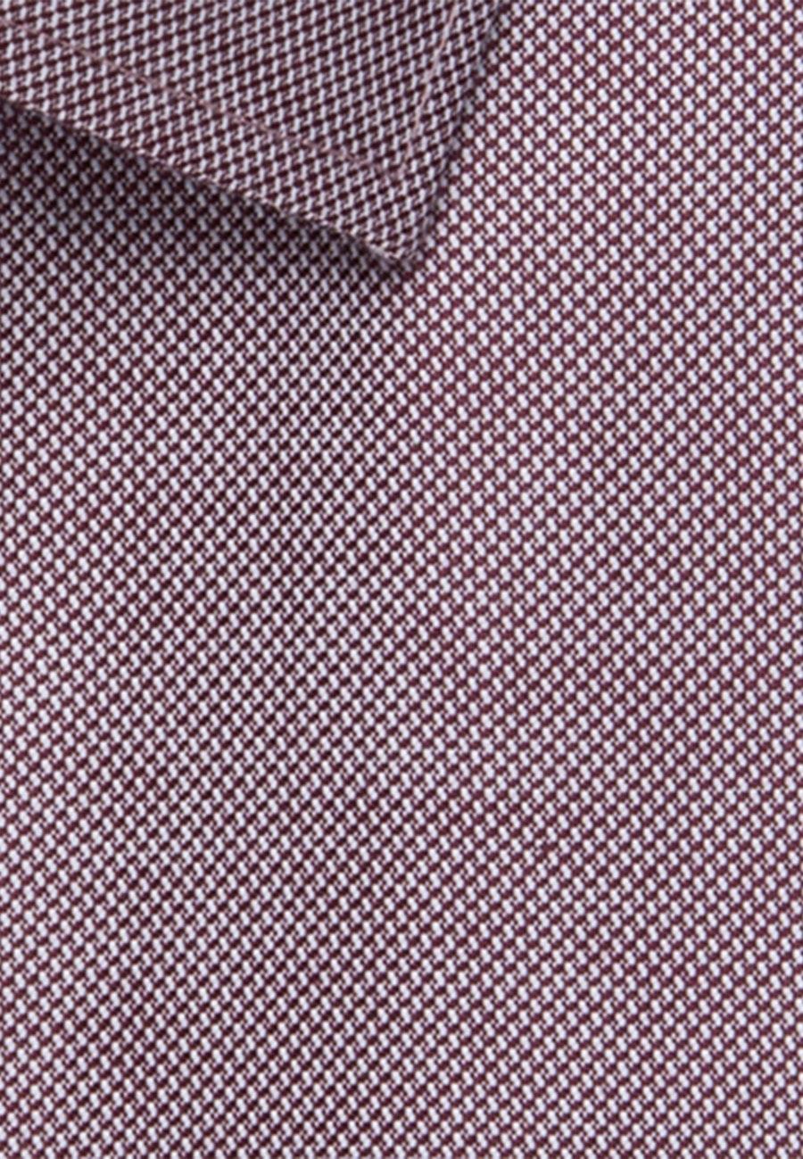 Bügelfreies Struktur Business Hemd in Regular mit Kentkragen in Rot    Seidensticker Onlineshop