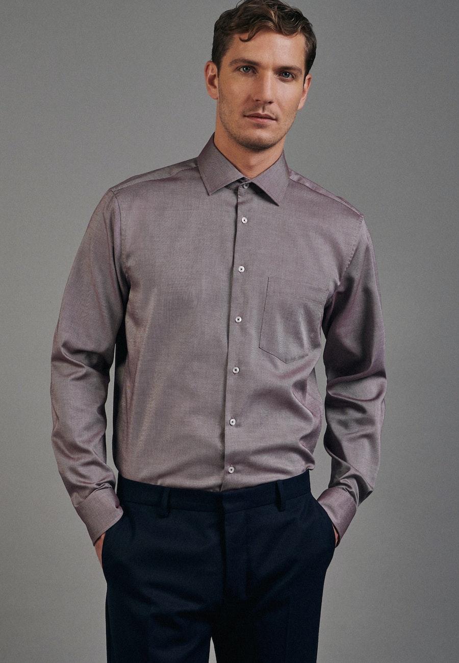 Non-iron Struktur Business Shirt in Regular with Kent-Collar in Rot |  Seidensticker Onlineshop