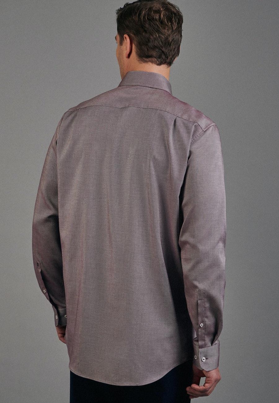 Non-iron Structure Business Shirt in Regular with Kent-Collar in Rot |  Seidensticker Onlineshop