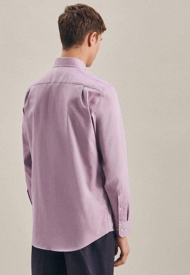 Non-iron Struktur Business Shirt in Regular with Kent-Collar in Purple |  Seidensticker Onlineshop