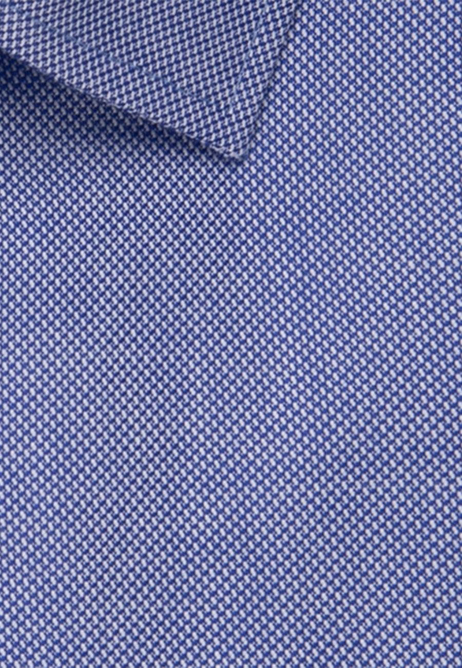 Non-iron Structure Business Shirt in Regular with Kent-Collar in Mittelblau |  Seidensticker Onlineshop
