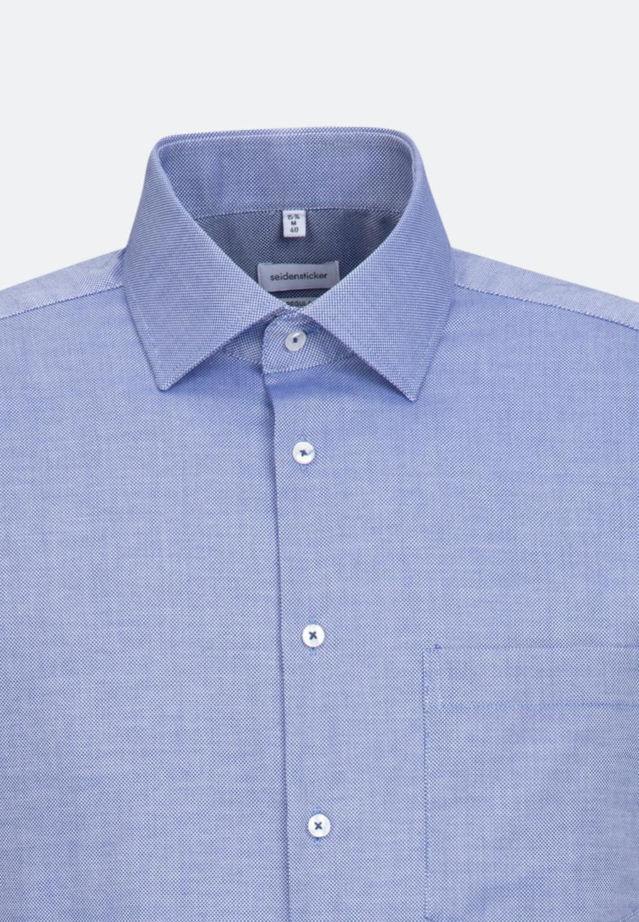 Non-iron Struktur Business Shirt in Regular with Kent-Collar in Mittelblau |  Seidensticker Onlineshop
