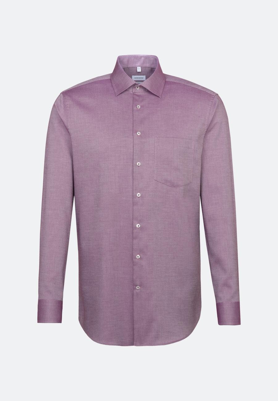 Non-iron Struktur Business Shirt in Regular with Kent-Collar in Rosa/Pink    Seidensticker Onlineshop