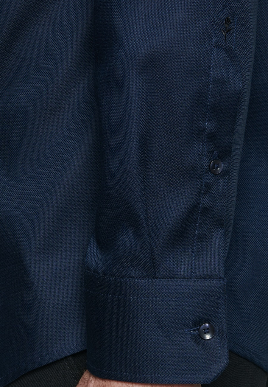 Non-iron Struktur Business Shirt in Regular with Kent-Collar in Dark blue |  Seidensticker Onlineshop