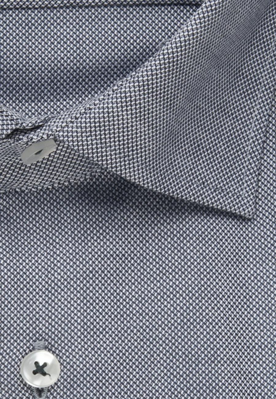 Bügelfreies Struktur Business Hemd in Regular mit Kentkragen in Grau |  Seidensticker Onlineshop