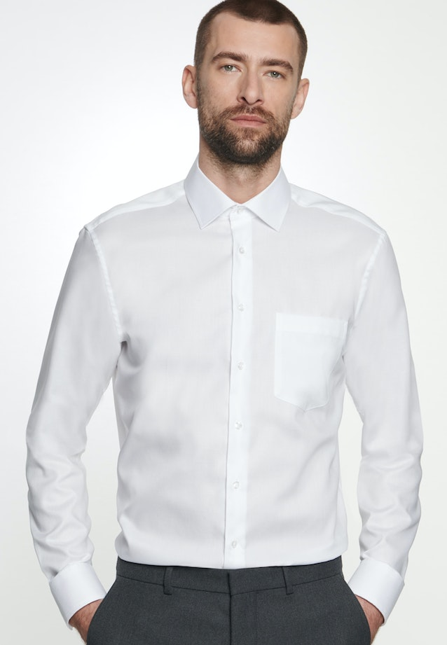 Non-iron Struktur Business Shirt in Regular with Kent-Collar in White |  Seidensticker Onlineshop