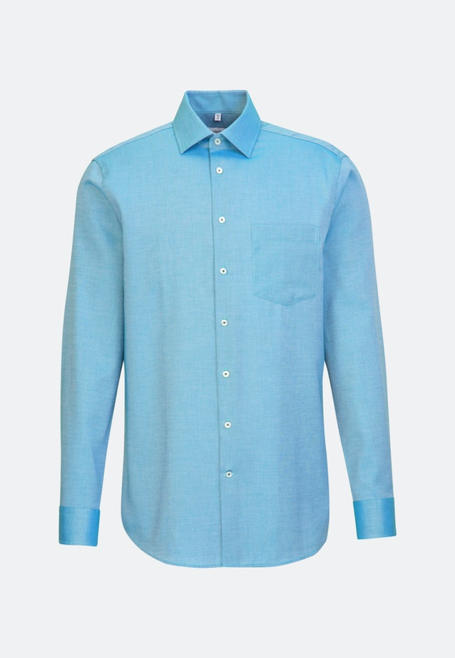 Non-iron Struktur Business Shirt in Regular with Kent-Collar in Turquoise |  Seidensticker Onlineshop