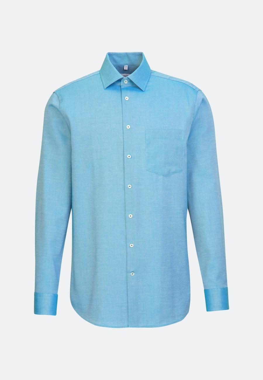 Non-iron Struktur Business Shirt in Regular with Kent-Collar in Turquoise    Seidensticker Onlineshop