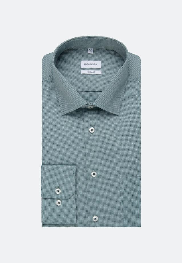 Non-iron Struktur Business Shirt in Regular with Kent-Collar in Grün |  Seidensticker Onlineshop