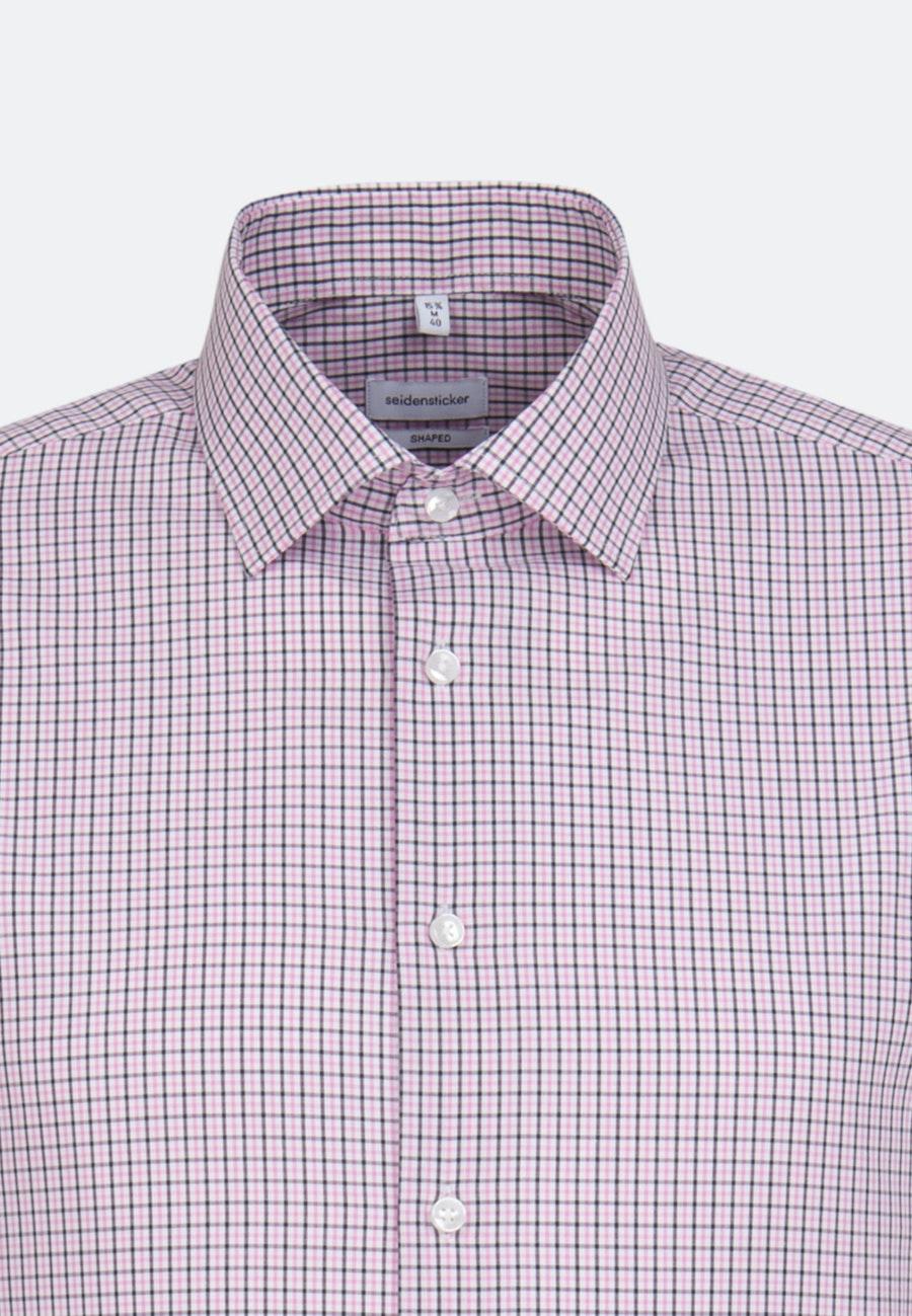 Bügelfreies Popeline Business Hemd in Shaped mit Kentkragen in Rosa/Pink    Seidensticker Onlineshop