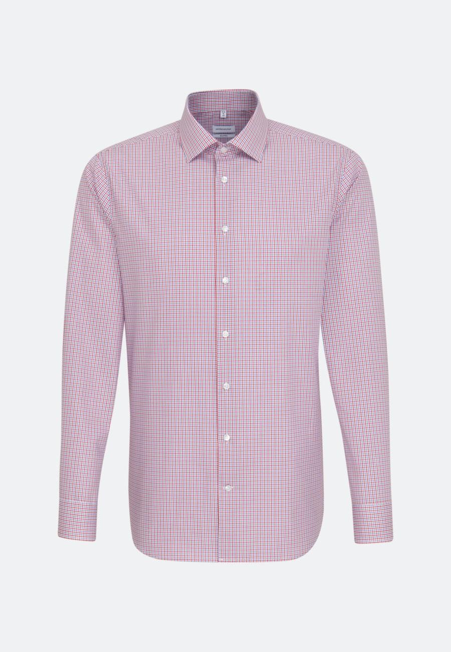 Non-iron Poplin Business Shirt in Shaped with Kent-Collar in Red    Seidensticker Onlineshop