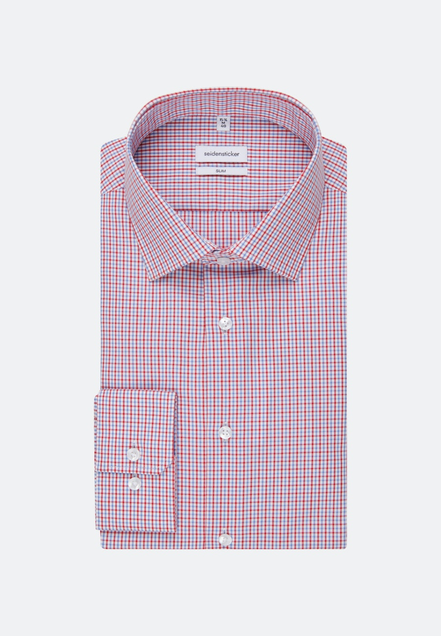 Non-iron Popeline Business Shirt in Slim with Kent-Collar in Red |  Seidensticker Onlineshop