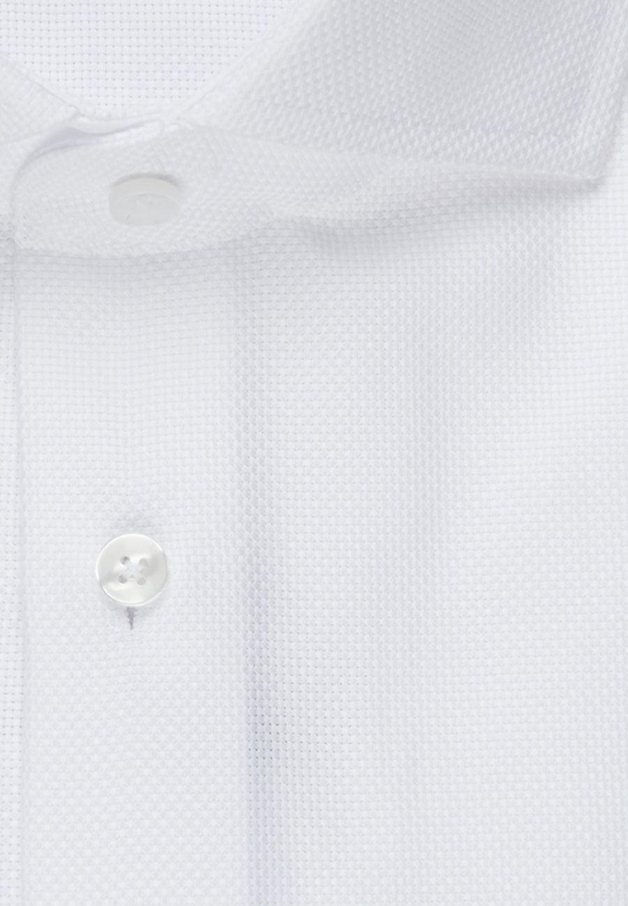 Easy-iron Structure Business Shirt in Slim with Kent-Collar in White |  Seidensticker Onlineshop