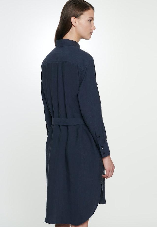 Twill Midi Kleid aus Tencelmischung in Dunkelblau |  Seidensticker Onlineshop