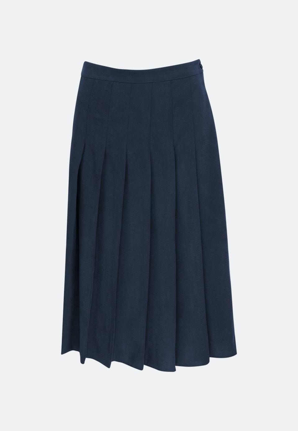 Twill Midi Skirt made of tencel blend in Dark blue |  Seidensticker Onlineshop