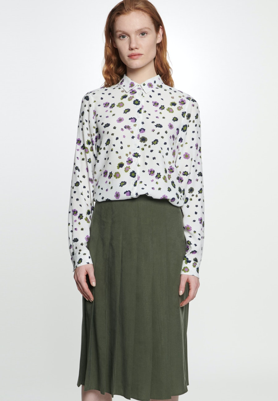 Twill Midi Skirt made of tencel blend in Green |  Seidensticker Onlineshop
