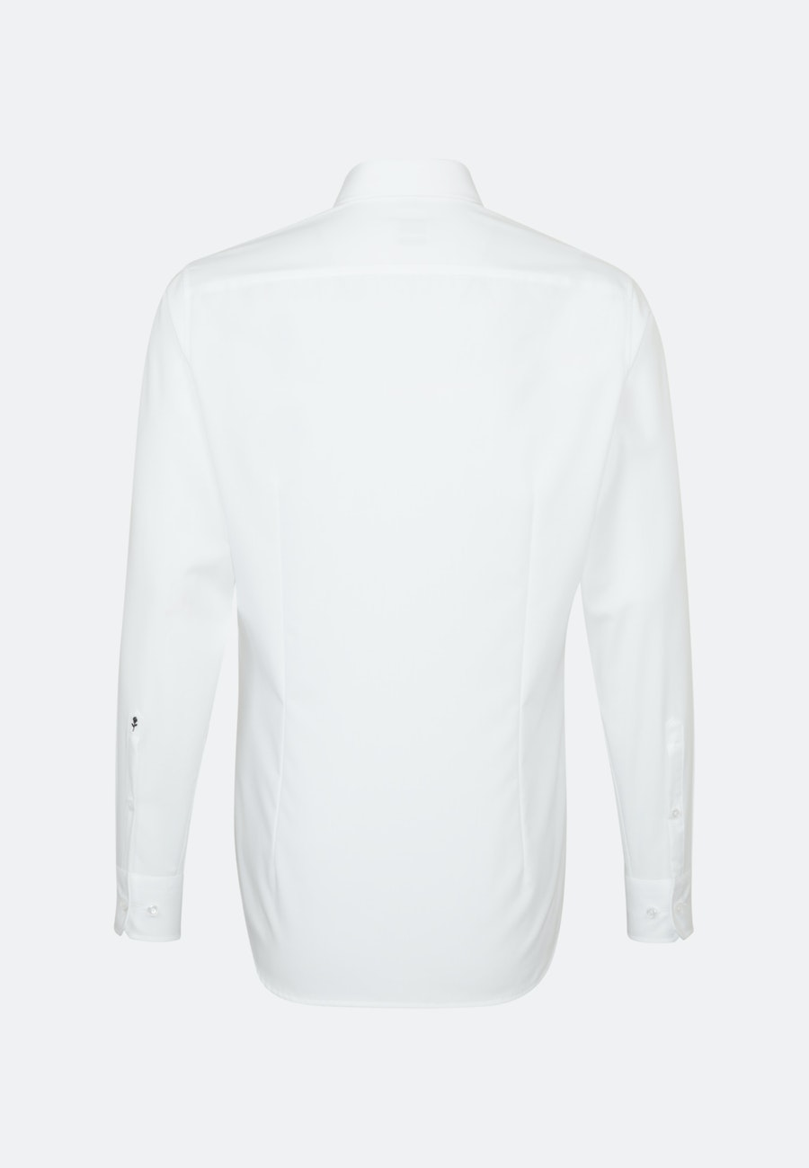Non-iron Popeline Business Shirt in Shaped with Button-Down-Collar in White |  Seidensticker Onlineshop