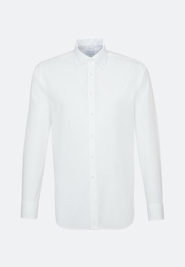 Non-iron Popeline Business Shirt in Slim with Button-Down-Collar in White |  Seidensticker Onlineshop