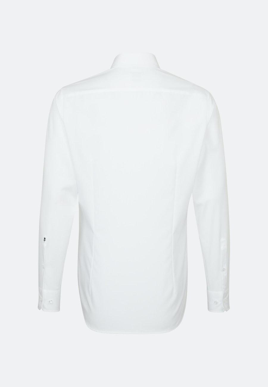 Bügelfreies Popeline Business Hemd in Slim mit Button-Down-Kragen in Weiß |  Seidensticker Onlineshop
