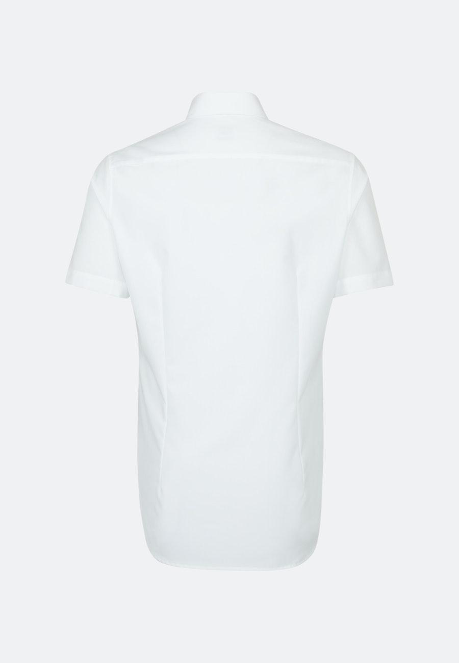 Bügelfreies Popeline Kurzarm Business Hemd in Slim mit Button-Down-Kragen in Weiß    Seidensticker Onlineshop