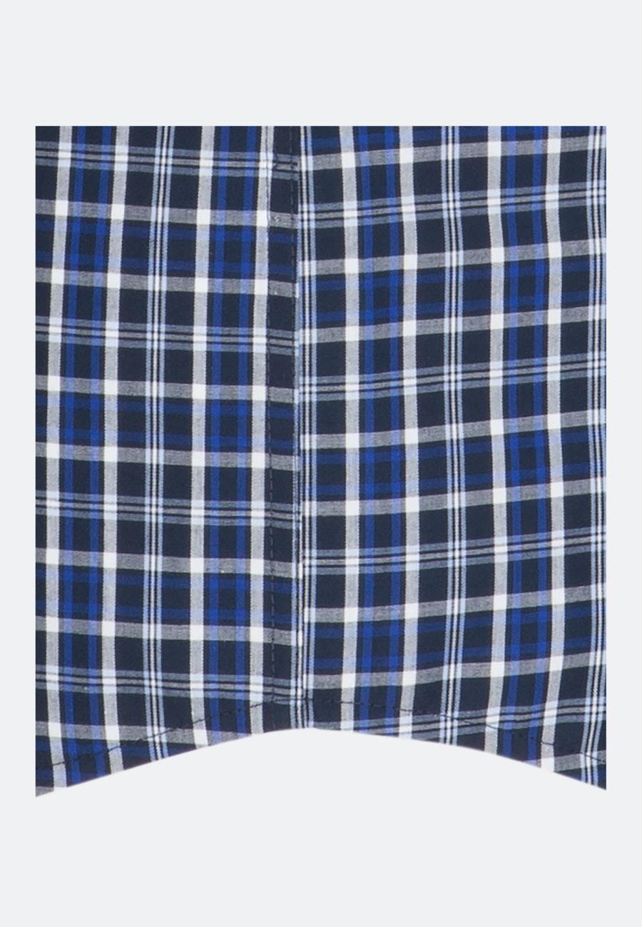Bügelfreies Popeline Kurzarm Business Hemd in Comfort mit Button-Down-Kragen in Mittelblau |  Seidensticker Onlineshop