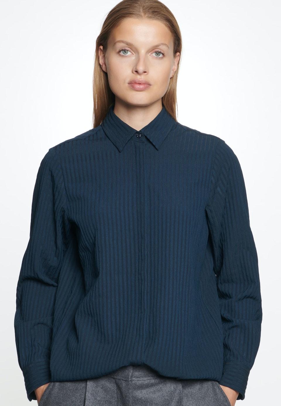Voile Shirt Blouse made of viscose blend in Dark blue |  Seidensticker Onlineshop