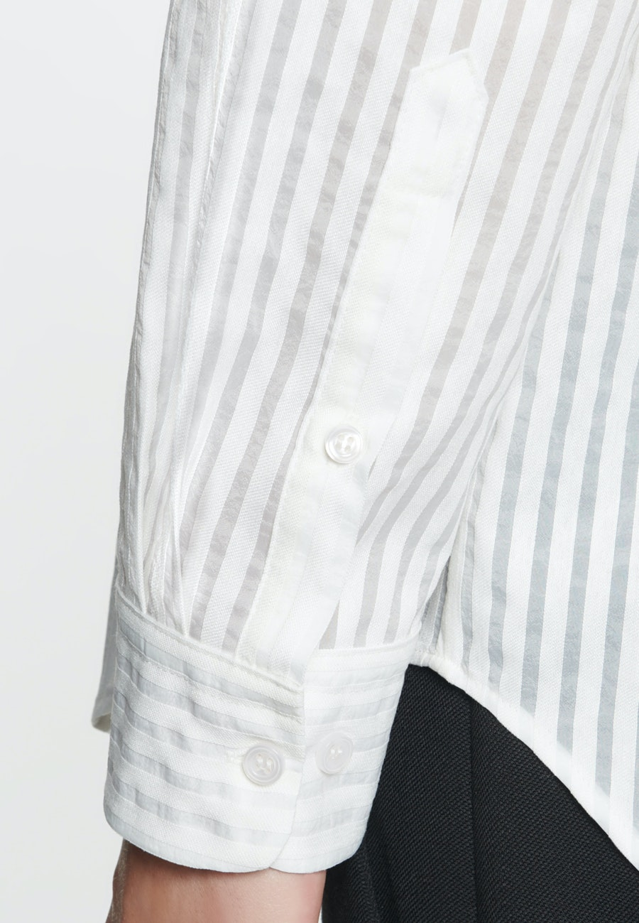 Voile Shirt Blouse made of viscose blend in Ecru |  Seidensticker Onlineshop