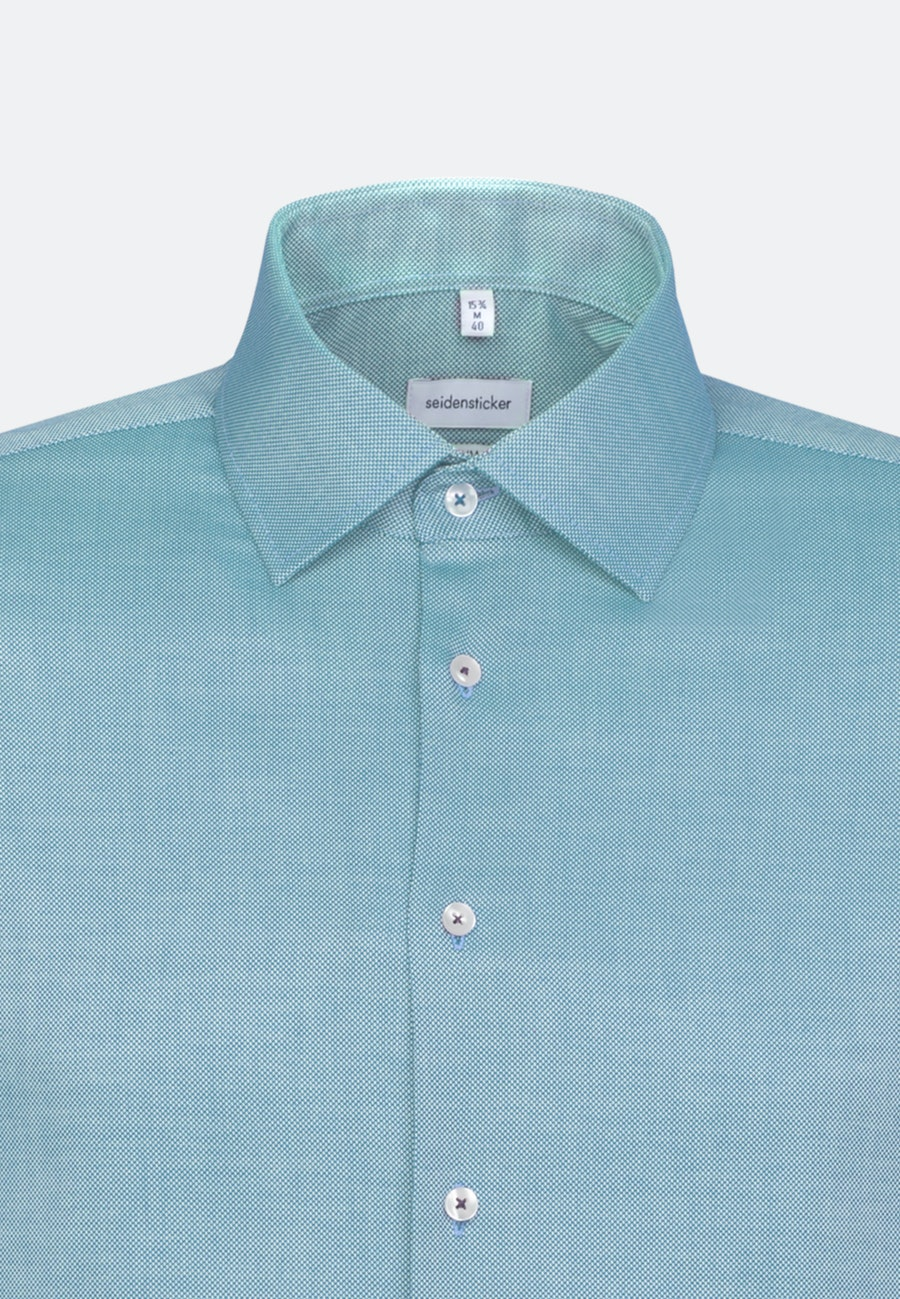 Non-iron Structure Business Shirt in Shaped with Kent-Collar in Turquoise |  Seidensticker Onlineshop